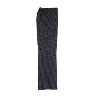 pantalón de cocinero con gomas cuadros negros velilla