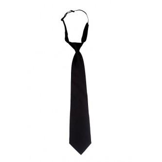 corbata con goma color negro velilla