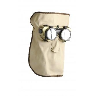 máscara de cuero flexible para soldar