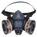 Semimáscara de elastómero para dos filtros Honeywell Clase 1 N5500