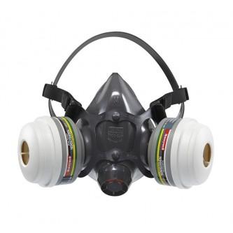 semimáscara de silicona para dos filtros honeywell clase 1 n7700