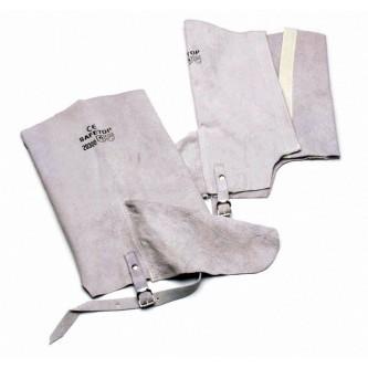 polainas de cuero grises para soldar safetop