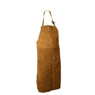 mandil de cuero 90x150 marrón para soldar safetop
