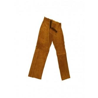 pantalón de cuero marrón para soldar safetop