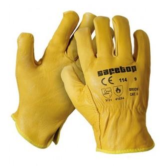 guantes tipo conductor amarillo safetop