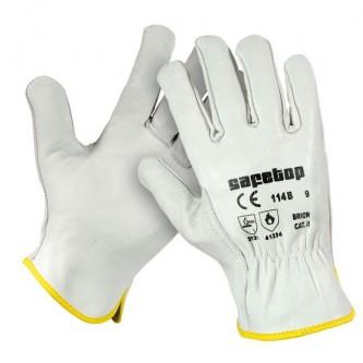 guantes tipo conductor brion blanco