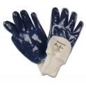 Guantes BlueSafe con revestimiento de nitrilo 3/4 puño punto