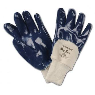 guantes bluesafe con revestimiento de nitrilo 3 4 puño punto