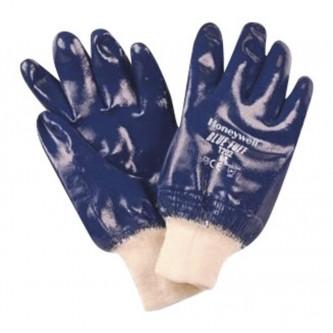 guantes bluesafe con revestimiento de nitrilo puño punto