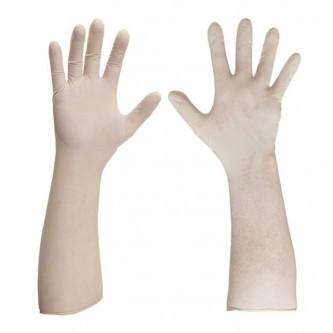 guante desechable extrafino blanco y libre de polvo