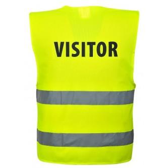 chaleco alta visibilidad impreso visitor c405 portwest