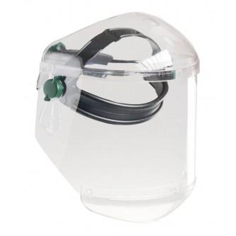 pantalla de protección frontal facial y barbilla antiarañazos