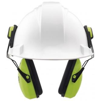 orejera antirruido alta visibilidad para casco leightning l1hhv snr 28