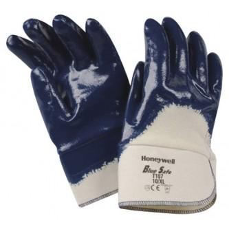 guantes bluesafe con revestimiento de nitrilo 3 4 puño seguridad