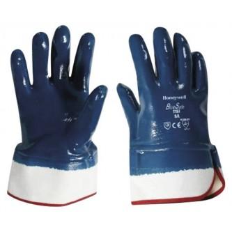 guantes bluesafe con revestimiento de nitrilo puño seguridad
