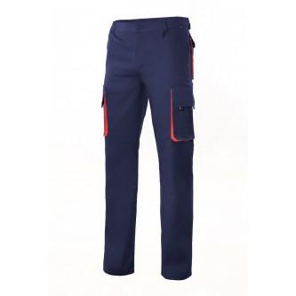 pantalón bicolor multibolsillo velilla