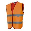 chaleco alta visibilidad naranja flúor velilla