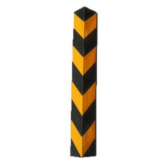 esquinera de caucho amarilla negra recta 800 x 100 mm